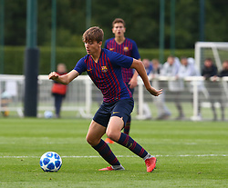 October 3, 2018 - London, England, United Kingdom - Enfield, UK. 03 October, 2018.Nicolas Gonzalez Igleslas of FC Barcelona.during UEFA Youth League match between Tottenham Hotspur and FC Barcelona at Hotspur Way, Enfield. (Credit Image: © Action Foto Sport/NurPhoto/ZUMA Press)