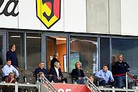 2020.06.24 Bialystok Pilka nozna PKO Ekstraklasa sezon 2019/2020 Grupa mistrzowska. Jagiellonia Bialystok ( zolto-czerwone ) - Legia Warszawa N/z Cezary Kulesza (2P)  prezes Jagiellonii i Dariusz Mioduski (3P) wlasciciel Legii na trybunach fot Michal Kosc / AGENCJA WSCHOD