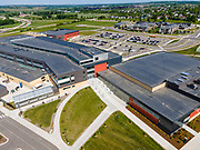 Aerial photograph of the new Verona Area High School; Verona, Wisconsin, USA