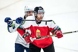 Matic Podlipnik of Slovenia and Andra Benk of Hungary during ice hockey match between Hunngary and Kazakhstan at IIHF World Championship DIV. I Group A Kazakhstan 2019, on May 3, 2019 in Barys Arena, Nur-Sultan, Kazakhstan. Photo by Matic Klansek Velej / Sportida