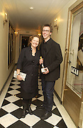 Marcus Taylor and Rachel Whiteread. Rachel Whiteread, Haunch of Venison opening party. 28 October 2002. © Copyright Photograph by Dafydd Jones 66 Stockwell Park Rd. London SW9 0DA Tel 020 7733 0108 www.dafjones.com