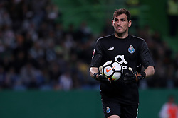 April 18, 2018 - Lisbon, Portugal - Porto's Spanish goalkeeper Iker Casillas in action during the Portugal Cup semifinal second leg football match Sporting CP vs FC Porto at the Alvalade stadium in Lisbon on April 18, 2018. (Credit Image: © Pedro Fiuza via ZUMA Wire)