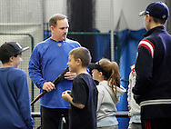 Chester, New York  - Former New York Mets baseball star player Howard Johnson talks to young players at the first anniversary open house celebration at The Rock Sports Park on Nov. 12, 2011.