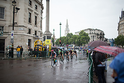 Ashleigh Moolmann-Pasio (RSA) of Cervélo-Bigla Cycling Team leads the peloton to the Admirality Arch in the tenth lap of the Prudential Ride London Classique - a 66 km road race, starting and finishing in London on July 29, 2017, in London, United Kingdom. (Photo by Balint Hamvas/Velofocus.com)