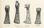 Iron Axe Heads from the book '  The viking age: the early history, manners, and customs of the ancestors of the English speaking nations ' by Du Chaillu, (Paul Belloni), 1835-1903 Publication date 1889 by C. Scribner's sons in New York,