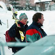 Krronprins Willem - Alexander op wintersport in Lech Oostenrijk