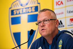 June 5, 2018 - Stockholm, SVERIGE - 180605 Sveriges förbundskapten Janne Andersson under Sveriges fotbollslandslags presskonferens den 5 juni 2018 i Stockholm. (Credit Image: © Andreas L Eriksson/Bildbyran via ZUMA Press)