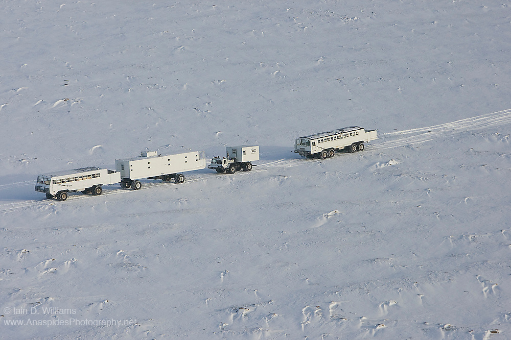 Humans cannot survive for long periods of time in the high Arctic in Canada.  A tundra train is one method to live in this inhospitable environment
