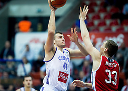 Ante Zizic of Cibona vs Erik Murphy of SIG Strassbourg during basketball match between KK Cibona Zagreb (CRO) and SIG Strasbourg in Round #6 of FIBA Champions League 2016/17, on November 23, 2016 in Drazen Petrovic Basketball center, Zagreb, Croatia. Photo by Vid Ponikvar / Sportida