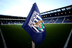 A West Bromwich Albion branded corner flag during the Premier League match at The Hawthorns, West Bromwich.