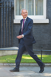 Justice Secretary David Lidington arrives at 10 Downing Street in London for a Cabinet meeting.
