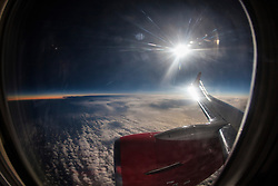 Images from the Jet2.com flight from Glasgow Airport, to view the March 20th 2015 solar eclipse over the North Atlantic.