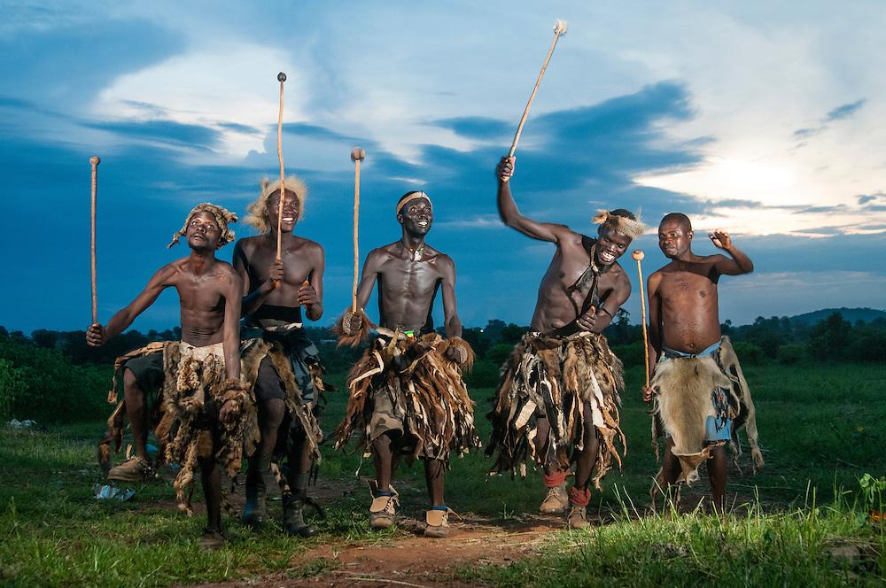 Ngoni warriors at the Ncwala Festival