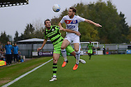 Forest Green Rovers striker Christian Doidge (9) battles for possession during the Vanarama National League match between Forest Green Rovers and Dagenham and Redbridge at the New Lawn, Forest Green, United Kingdom on 29 October 2016. Photo by Alan Franklin.