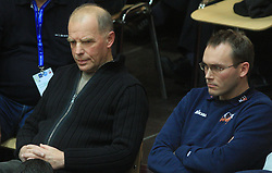 Herman Rigelnik and Rasto Oderlap of ACH at finals of Slovenian volleyball cup between OK ACH Volley and OK Salonit Anhovo Kanal, on December 27, 2008, in Nova Gorica, Slovenia. ACH Volley won 3:2.(Photo by Vid Ponikvar / SportIda).