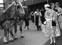 British photographer Terry Fincher seen on assignment photographing Queen Elizabeth in the 1960's.