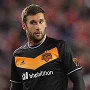 Will Bruin, Houston, in action during the New York Red Bulls Vs Houston Dynamo, Major League Soccer regular season match at Red Bull Arena, Harrison, New Jersey. USA. 19th March 2016. Photo Tim Clayton