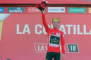 Podium, Simon Yates (GBR - Mitchelton - Scott) Red jersey, during the UCI World Tour, Tour of Spain (Vuelta) 2018, Stage 9, Talavera de la Reina - La Covatilla 200,8 km in Spain, on September 3rd, 2018 - Photo Luis Angel Gomez / BettiniPhoto / ProSportsImages / DPPI
