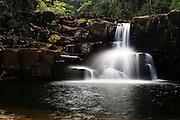 Klong Chao Waterfall on the island of Koh Kood, Trat province, Thailand Asia.