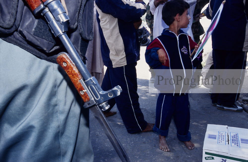 SPECIAL OLYMPICS AFGHANISTAN..Kabul, 23 August 2005..Athletes are gatering in Darul Aman for the Torch Run