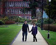 Gemma & Luke Pre Wedding Photographs at the Riverside Gardens, Belper, Derbyshire.