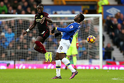 Bacary Sagna of Manchester City challenges Romelu Lukaku of Everton - Mandatory by-line: Matt McNulty/JMP - 15/01/2017 - FOOTBALL - Goodison Park - Liverpool, England - Everton v Manchester City - Premier League