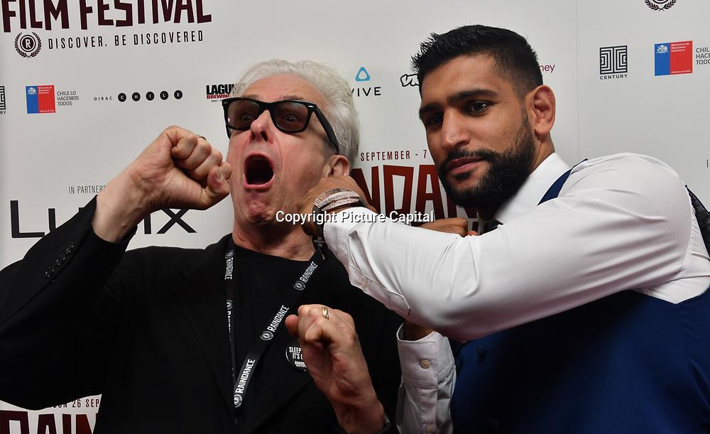 Elliot Grove and Amir Khan World Premiere of Team Khan - Raindance Film Festival 2018 at Vue Cinemas - Piccadilly, London, UK. 29 September 2018.