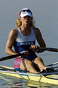 20040814 Olympic Games Athens Greece.  Olympic Regatta. <br /> Photo  Peter Spurrier  <br /> RUS W1X Irina Fedotova <br /> email;  images@intersport-images.com <br /> Tel +44 7973 819 551<br /> <br /> <br /> <br /> [Mandatory Credit Peter Spurrier/ Intersport Images]