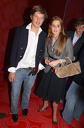 COUNT NIKOLI VON BISMARCK and PRINCESS BEATRICE OF YORK at a party hosted by jeweller Theo Fennell and Dominique Heriard Dubreuil of Remy Martin fine Champagne Cognac entitles 'Hot Ice' held at 35 Belgrave Square, London, W1 on 26th October 2004.<br /><br />NON EXCLUSIVE - WORLD RIGHTS
