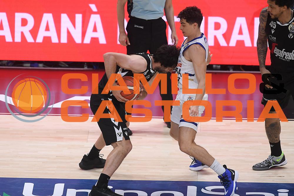 Teodosic Milo<br /> Segafredo Virtus Bologna - Happy Casa Brindisi<br /> Semifinali - Gara 3<br /> Legabasket Serie A UnipolSAI 2020/2021<br /> Bologna, 02/06/2021<br /> Foto GiulioCiamillo / Ciamillo-Castoria