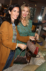 Left to right, PRINCESS KARL VON AUERSPERG-BREUNNER and ALLEGRA HICKS at a lunch at Allegra Hicks, 28 Cadogan Place, London to view their new collection of handbags by F.O.U. on 20th October 2005.<br /><br />NON EXCLUSIVE - WORLD RIGHTS