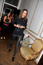 SASHA VOLKOVA at the 39th birthday party for Nick Candy in association with Ciroc Vodka held at 5 Cavindish Square, London on 21st Januatu 2012.