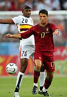 Koln 11/6/2006 World Cup 2006<br /> <br /> Angola Portugal - Angola Portogallo 0-1<br /> <br /> Photo Andrea Staccioli Graffitipress<br /> <br /> Cristiano Ronaldo Portogallo Loco Angola