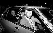 Jennifer Guinness is driven home after her kidnap ordeal.<br /> 10 April 1986