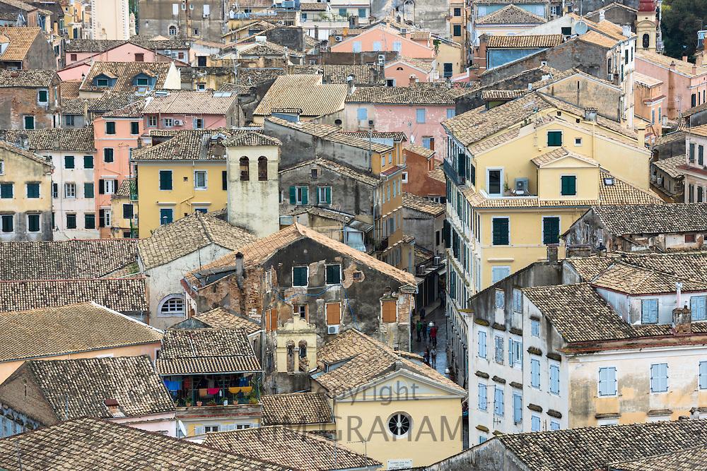 Rooftops of Kerkyra, Corfu Town in Corfu, , Greece