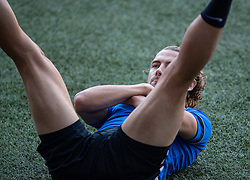 CARDIFF, WALES - Tuesday, September 7, 2021: Estonia's Ken Kallaste during a training session at the Cardiff City Stadium ahead of the FIFA World Cup Qatar 2022 Qualifying Group E match between Wales and Estonia. (Pic by David Rawcliffe/Propaganda)
