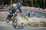 #53 (PRIES Nadja) GER during practice at Round 5 of the 2018 UCI BMX Superscross World Cup in Zolder, Belgium