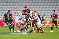 Rugby Union - 2020 / 2021 Gallagher Premiership - Round 4 - Harlequins vs Bristol Bears  - The Stoop<br /> <br /> Mike Brown, of Harlequins, grounds the ball as he breaks through the Bristol defence<br /> <br /> COLORSPORT/DANIEL BEARHAM