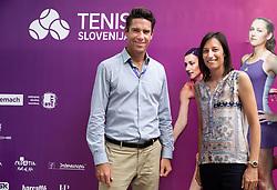 PORTOROZ, SLOVENIA - SEPTEMBER 19:  Gregor Krusic and Katarina Srebotnik during the WTA 250 Zavarovalnica Sava Portoroz at SRC Marina, on September 19, 2021 in Portoroz / Portorose, Slovenia. Photo by Vid Ponikvar / Sportida