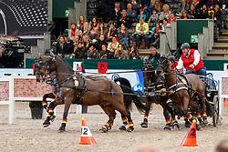 Von Stein Georg, GER, Barny, Espeedy, Maestoso Magnas, Rocket<br /> FEI World Cup Driving - First Round<br /> Leipzig - Partner Pferd 2018<br /> © Hippo Foto - Stefan Lafrentz