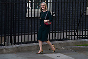 Liz Truss  leaving Downing Street after being appointed by  Prime Minister Boris Johnson to International Trade Secretary on 24th July, 2019, in London, United Kingdom.