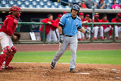 June 5, 2017 - St. Petersburg, Florida, U.S. - WILL VRAGOVIC       Times.Charlotte Stone Crabs catcher Wilson Ramos (36) draws the walk in the third inning of the game between the Charlotte Stone Crabs and the Clearwater Threshers at Spectrum Field in Clearwater, Fla. on Monday, June 6, 2017. (Credit Image: © Will Vragovic/Tampa Bay Times via ZUMA Wire)