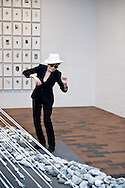 06.06.2013. Humlebaek, Denmark.Yoko Ono poses next to one of his works during the opening of the exhibition Yoko Ono Half A Wind Show A Retrospective at the Lousiana Museum of Modern Art.Photo: © Ricardo Ramirez