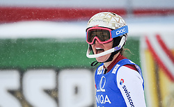 29.12.2014, Hohe Mut, Kühtai, AUT, FIS Ski Weltcup, Kühtai, Slalom, Damen, 2. Durchgang, im Bild Michelle Gisin (SUI) // Michelle Gisin of Switzerland reacts after 2nd run of Ladies Giant Slalom of the Kuehtai FIS Ski Alpine World Cup at the Hohe Mut Course in Kuehtai, Austria on 2014/12/29. EXPA Pictures © 2014, PhotoCredit: EXPA/ Erich Spiess
