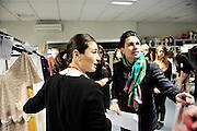 Spanish fashion designer Jorge Acuña at Madrid's Fashion Show backstage.