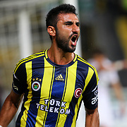 Fenerbahce's Selcuk Sahin celebrates his goal during their Turkish Super League soccer match Akhisar Belediyespor between Fenerbahce at the 19 Mayis Stadium  in Manisa Turkey on Saturday, 03 November 2012. Photo by TURKPIX
