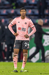 BURNLEY, ENGLAND - Tuesday, December 29, 2020: Sheffield United's Rhian Brewster looks dejected at the final whistle during the FA Premier League match between Burnley FC and Sheffield United FC at Turf Moor. Burnley won 1-0. (Pic by David Rawcliffe/Propaganda)