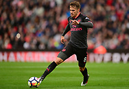 Aaron Ramsey of Arsenal in action. Premier league match, Stoke City v Arsenal at the Bet365 Stadium in Stoke on Trent, Staffs on Saturday 19th August 2017.<br /> pic by Bradley Collyer, Andrew Orchard sports photography.
