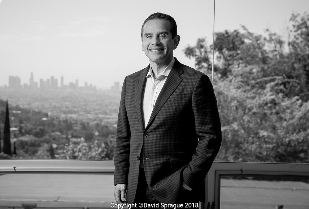 Former Los Angeles Mayor Antonio Villaraigosa in his home in Los Angeles July 31, 2018. Photo by David Sprague