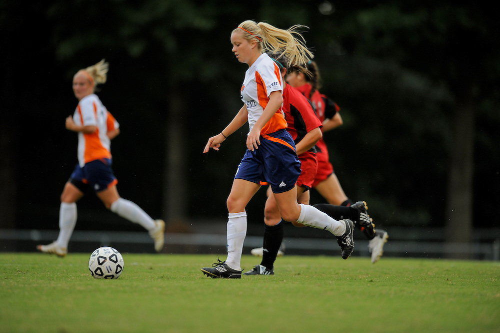 Sept. 15, 2012; Morrow, GA, USA; Clayton State women's soccer player Alicia Robinson against the Flagler at CSU. Photo by Kevin Liles/kdlphoto.com